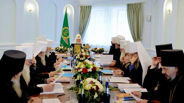 Заседание Синода Русской Православной Церкви. Архивное фото