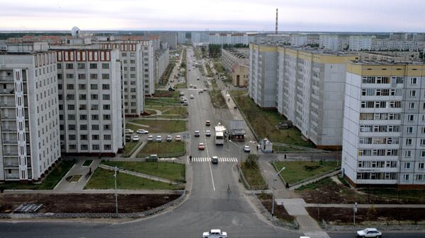 Проспект Мира. Город Когалым. Ханты-Мансийский автономный округ