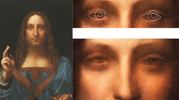 Картина Спаситель мира, предположительный автопортрет Леонардо да Винчи
