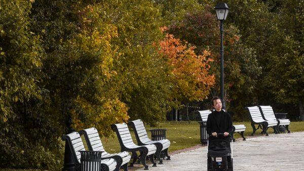 Девушка в парке Царицыно