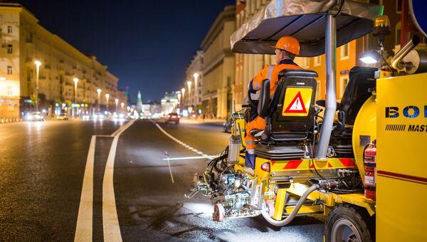 Работы на Тверской улице