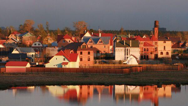 Коттеджный поселок в Московской области. Архивное фото