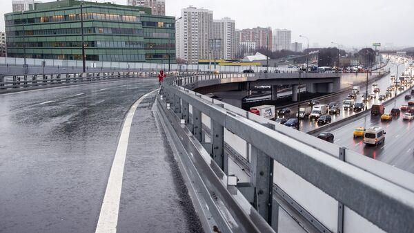 Завершение реконструкции развязки на пересечении Можайского шоссе и МКАД