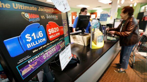 Продажа лотерейных билетов Mega Millions в продуктовом магазине в штате Айова