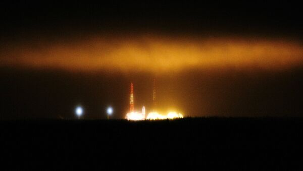 Запуск ракеты со спутником военного назначения