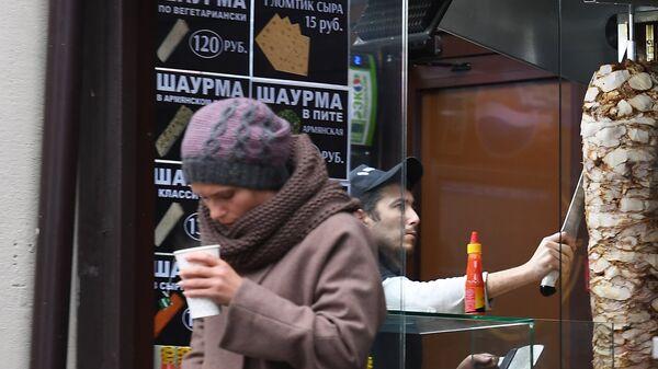 Торговая точка по продаже шаурмы в Москве