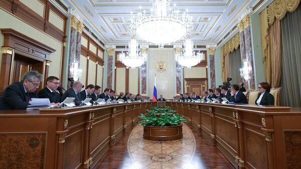 Председатель правительства РФ Дмитрий Медведев проводит заседание правительства РФ. 25 октября 2018