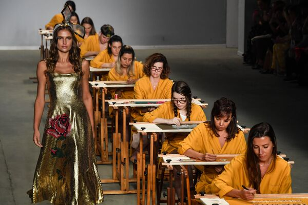 Показ коллекции Patricia Viera на Неделе моды в Сан-Паулу