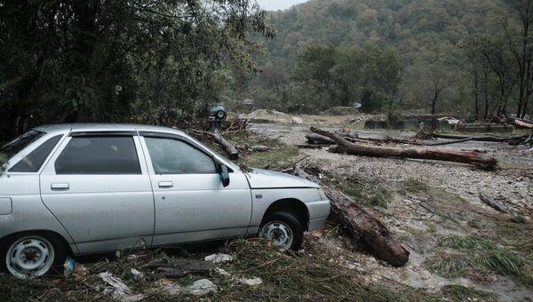 Последствия сильных дождей на территории Краснодарского края. Архивное фото