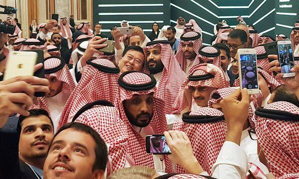 Наследный принц Саудовской Аравии Мухаммед бин Салман на инвестиционной конференции в Эр-Рияде