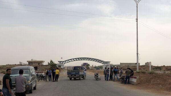 Пограничный переход Насиб на сирийско-иорданской границе. Архивное фото