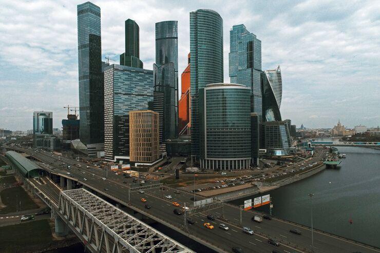 Здания Московского международного делового центра Москва-Сити в Москве.