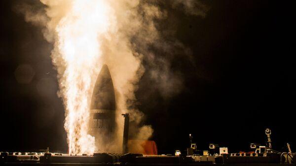 Запуск американской противоракеты SM-3 Block IIA