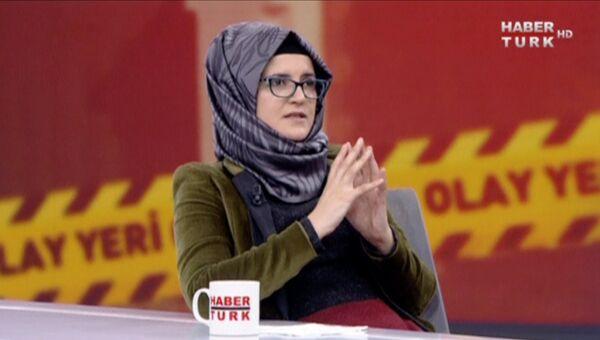 Невеста погибшего саудовского журналиста Джамаля Хашукджи Хатидже Дженгиз во время интервью на турецком телевидении. 26 октября 2018