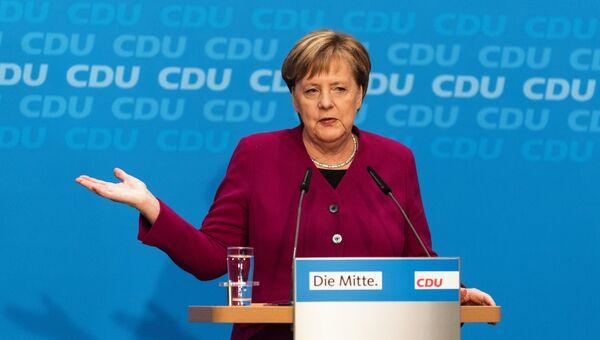 Канцлер Германии Ангела Меркель на пресс-конференции в Берлине, Германия. Архивное фото