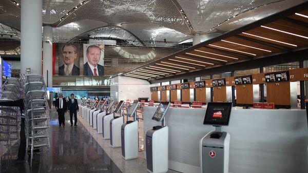 Новый аэропорт в Стамбуле, Турция. 29 октября 2018