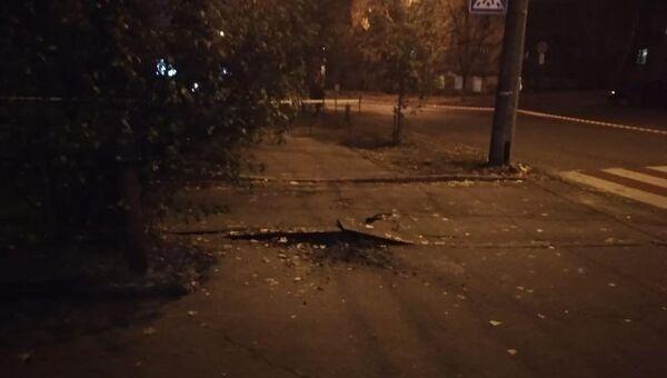 На месте замыкания силового кабеля в центре Киева. 30 октября 2018