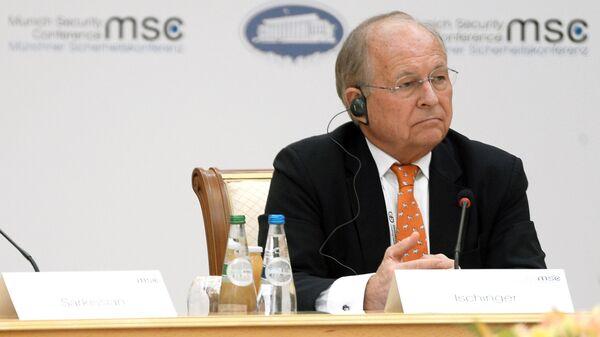 Председатель ежегодной Мюнхенской международной конференции по безопасности Вольфганг Фридрих Ишингер принимают участие в заседании основной группы Мюнхенской конференции по безопасности в Минске
