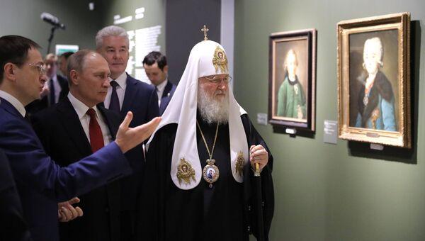 Владимир Путин посетил выставку Сокровища музеев России. 4 ноября 2018