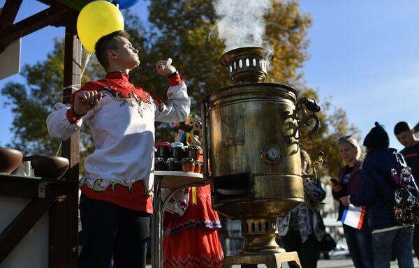 Празднование Дня народного единства на центральной площади в Симферополе