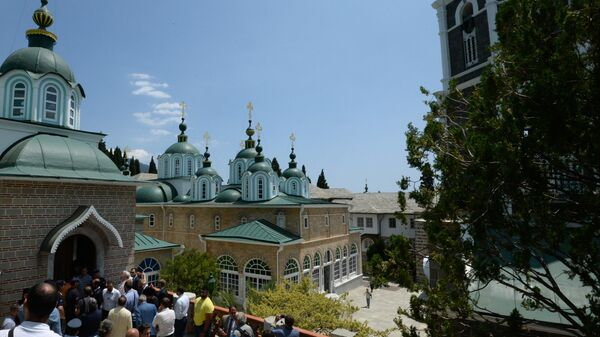 Русский Свято-Пантелеимонов монастырь на территории автономного монашеского государства Святой Горы Афон. 2016 год