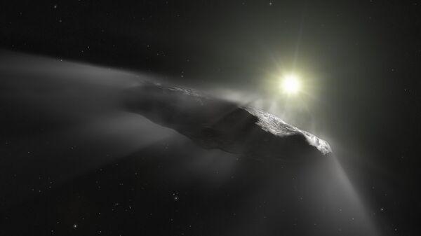 Так художник изобразил межзвездный астероид Оумуамуа
