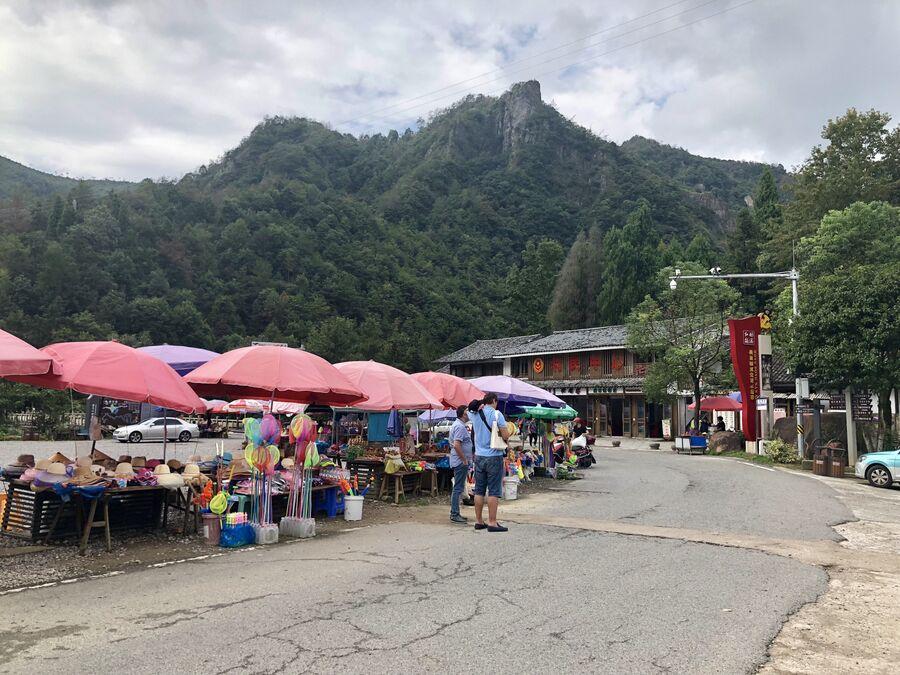 Рынок на входе в пейзажный район Наньсицзян, Чжэцзян, Китай