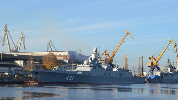 Фрегат Адмирал флота Касатонов готовят к ходовым испытаниям