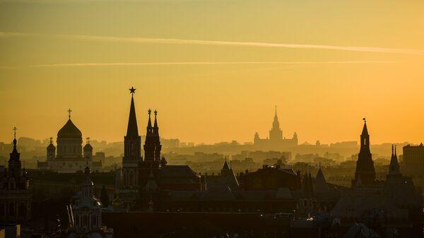 Вид на Москву со смотровой площадки Центрального детского магазина