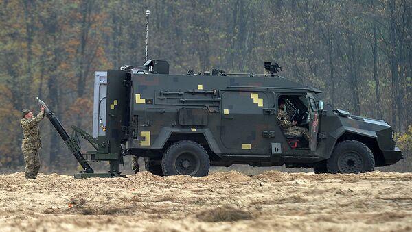 Испытания украинского мобильного минометного комплекса Барс-8ММК