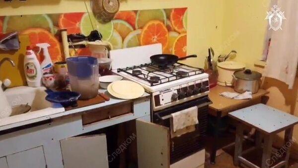 Квартира в подмосковном городе Электросталь, где была найдена семья из 4 человек без признаков жизни