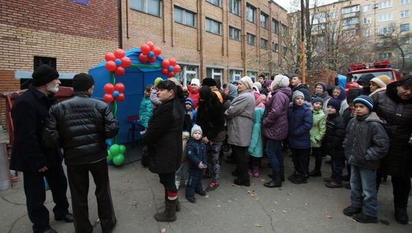 Голосования на выборах главы ДНР в селе Саханка Донецкой области. 11 ноября 2018