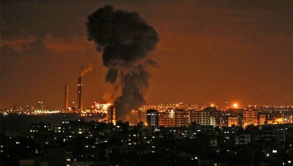 Воздушные удары  в секторе Газа. 12 ноября 2018