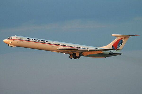 Самолет авиакомпании Интеравиа