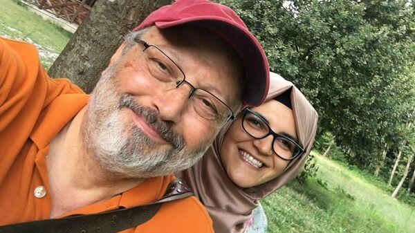 Журналист Джамаль Хашукджи и его невеста Хатидже Дженгиз