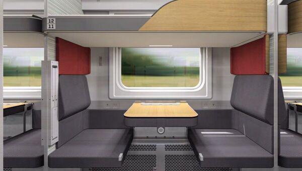 Концепт новых плацкартных вагонов РЖД с модульными пространствами. Архивное фото