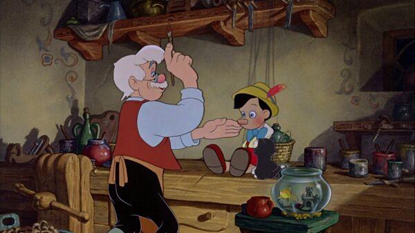 Кадр из мультипликационного фильма Пиноккио (1940)