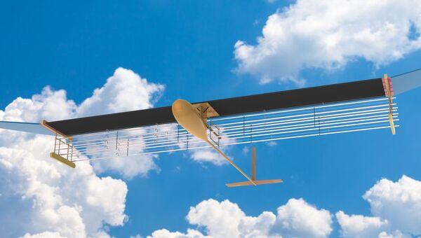 Первая модель ионного самолета