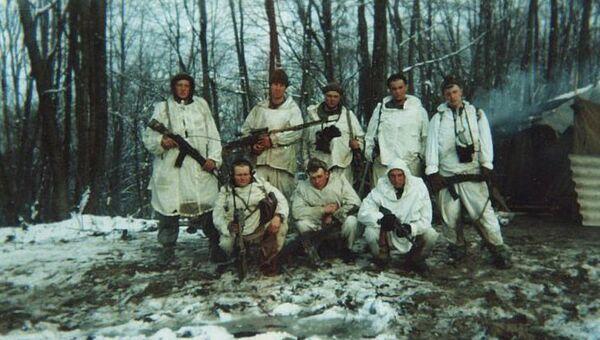 Разведчики Гв.лейтенанта Кожемякина Д.С. Группа перед выходом 29.02.2000