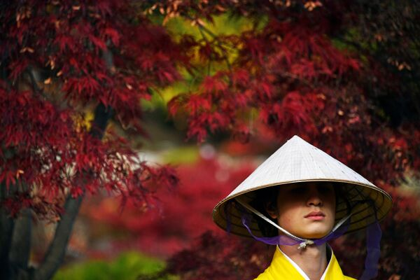 На открытии Японского сада на территории парка Айвазовское