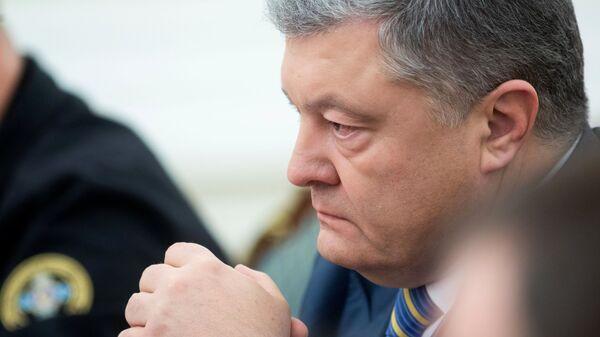 Президент Украины Петр Порошенко на заседании Совета национальной безопасности и обороны Украины