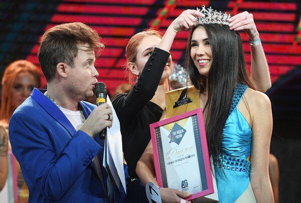 Анастасия Шабловская, награжденная в номинации Первая вице-мисс, во время финалов всероссийских конкурсов красоты Топ модель России 2018 и Топ модель PLUS 2018 в Korston Club Hotel в Москве