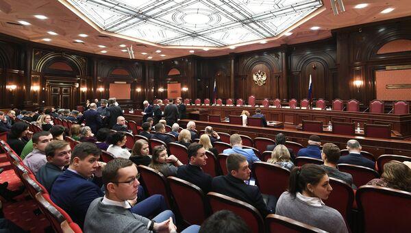 Перед заседанием Конституционного суда РФ по делу об административной границе между Чечней и Ингушетией. 27 ноября 2018