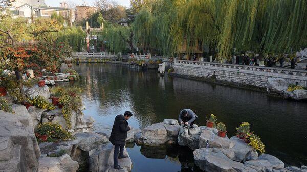 Китай, город Цзинань, парк