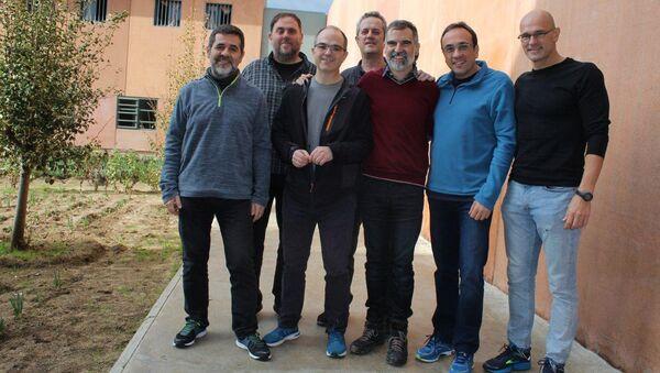 Каталонские политики в тюрьме Льедонерс. Архивное фото