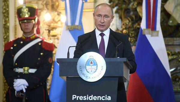 Президент РФ Владимир Путин на пресс-конференции по итогам российско-аргентинских переговоров. 1 декабря 2018