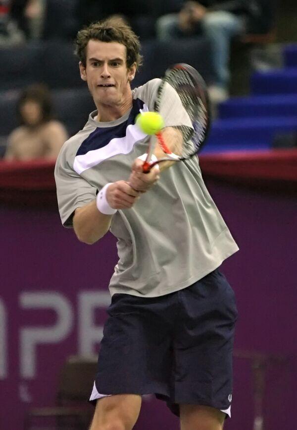 Британский теннисист Энди Мюррей на турнире St.Petersburg Open-2008