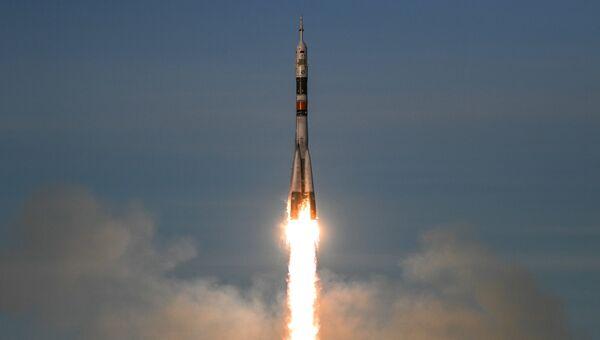 Старт ракеты-носителя Союз-ФГ с пилотируемым кораблем Союз МС-11. Архивное фото