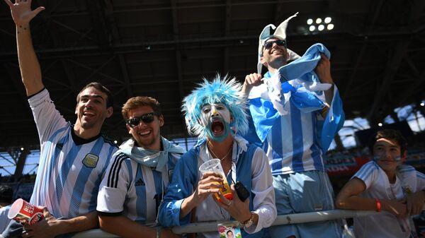 Болельщики сборной Аргентины перед матчем группового этапа чемпионата мира по футболу FIFA-2018
