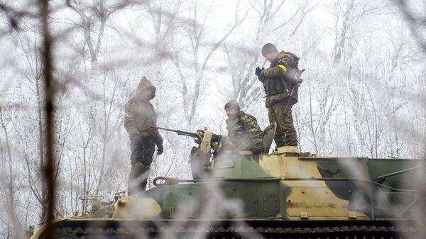 Украинские военные в районе Светлодарска